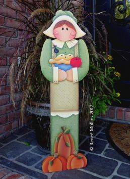 #717 Pilgrim GIRL Porch Greeter (PATTERN)